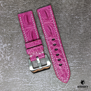 #134 *Custom Made for Customer* 22/20mm Pink Hornback Crocodile Leather Watch Strap