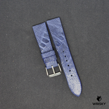 Load image into Gallery viewer, #81 20/18mm Deep Sea Blue Ostrich Leg Leather Watch Strap With No Stitch