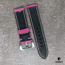 Load image into Gallery viewer, #134 *Custom Made for Customer* 22/20mm Pink Hornback Crocodile Leather Watch Strap