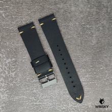 Load image into Gallery viewer, 22mm Vintage Leather Strap in Black