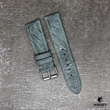 Load image into Gallery viewer, #191 22/20mm Grey Ostrich Leg Leather Watch Strap with Grey Stitches