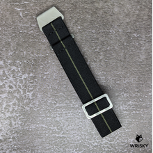 Load image into Gallery viewer, WRISKY Elastic Military Strap (Black-Khaki Stripe)