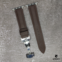 Load image into Gallery viewer, (Apple Watch) Genuine Saffiano Leather in Brown