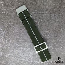Load image into Gallery viewer, WRISKY Elastic Military Strap (Green-White Stripe)