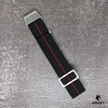 Load image into Gallery viewer, WRISKY Elastic Military Strap (Black-Red Stripe)