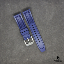 Load image into Gallery viewer, Premium Basic Blue Rubber Strap with Quick Release Springbar (Silver Brushed Buckle)