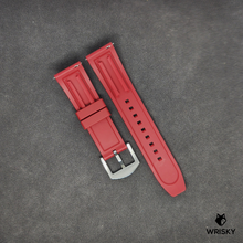 Load image into Gallery viewer, Premium Basic Red Rubber Strap with Quick Release Springbar (Silver Brushed Buckle)