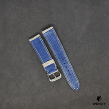 Load image into Gallery viewer, #32 20mm/18mm Himalayan Crocodile Belly watch strap with Blue Lining