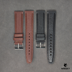 Black French Goat Leather Strap