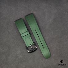 Load image into Gallery viewer, Premium Basic Green Rubber Strap with Quick Release Springbar (Black PVD Buckle)
