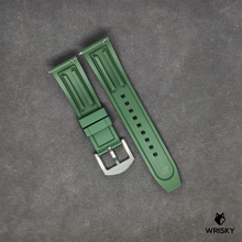 Load image into Gallery viewer, Premium Basic Green Rubber Strap with Quick Release Springbar (Silver Brushed Buckle)
