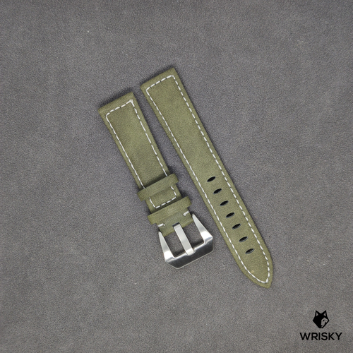 Genuine Leather Padded Strap in Green