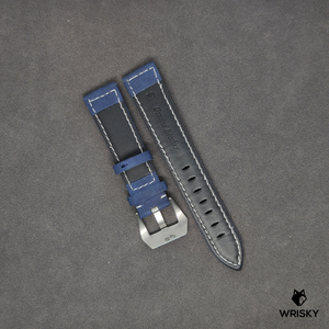 Genuine Leather Padded Strap in Blue
