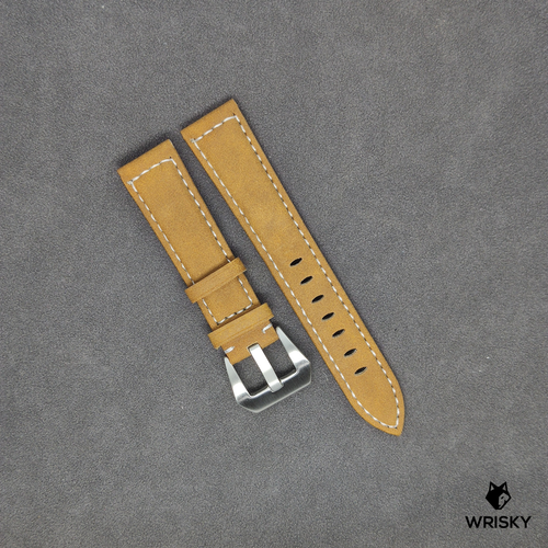 Genuine Leather Padded Strap in Brown