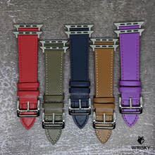Load image into Gallery viewer, Classic Apple Leather Strap (Purple)