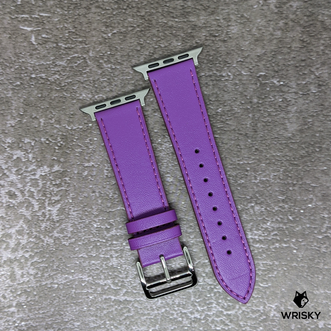 Classic Apple Leather Strap (Purple)