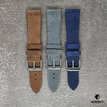 Load image into Gallery viewer, Premium Suede Leather Strap in Blue