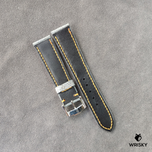 Load image into Gallery viewer, #42 20/18mm Grey Ostrich Leg Leather Watch Strap With Orange Stitch