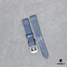 Load image into Gallery viewer, #197 14/12mm Deep Sea Blue Ostrich Leg with No Stitch Leather Watch Strap