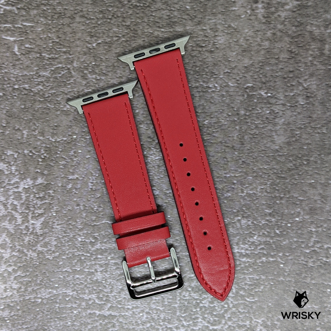 Classic Apple Leather Strap (Fiery Red)