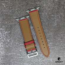 Load image into Gallery viewer, Classic Apple Leather Strap (Fiery Red)