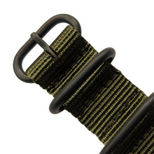 Load image into Gallery viewer, Khaki Green Military Grade Zulu with Black Buckle