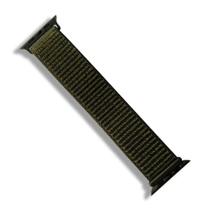 Woven Nylon Band for Apple Strap (Olive Green)