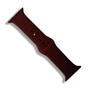 Wine Red Rubber Strap for Apple Watch