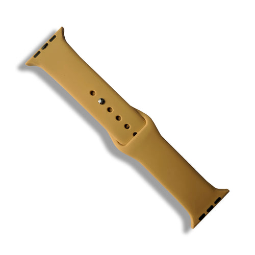 Light Brown Rubber Strap for Apple Watch