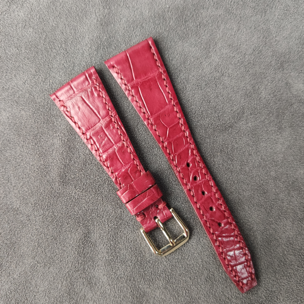 #17 24/14mm Red Crocodile Belly with Red Stitch