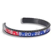 Load image into Gallery viewer, Pepsi GMT Bezel Wrist Cuff in Black - Wrisky.co