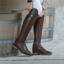 Load image into Gallery viewer, Women Color-block Riding Boots Low Heel Pu Boots