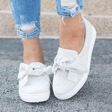 Load image into Gallery viewer, Women Nubuck Loafers Casual Bowknot Shoes