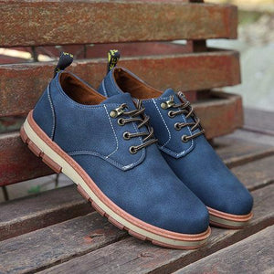 High Top Flat Heel Canvas Lace-up Shoes for Man