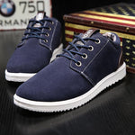 Men Fabric Breathable Lace Up Walking Casual Canvas Shoes