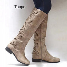 Load image into Gallery viewer, PU Chunky Heel Zipper Casual Winter Women Boots