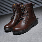 Men's Faxu Leather Winter Warm Martin Boots