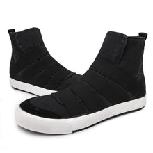 Load image into Gallery viewer, Men High Top Canvas Elastic Slip On Soft Casual Trainers