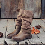 Comfy Cabin Boots Vintage PU Paneled Adjustable Buckle Casual Boots