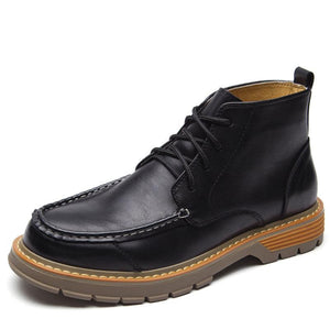Large Size Men Microfiber Leather Slip Resistant Casual Boots