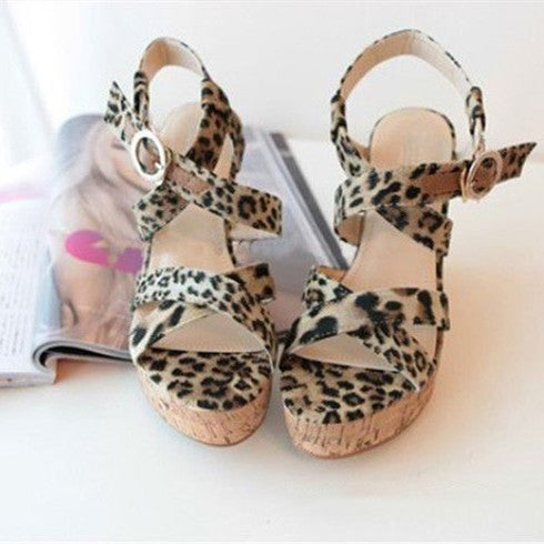 Summer women Sandals Slanted Heel