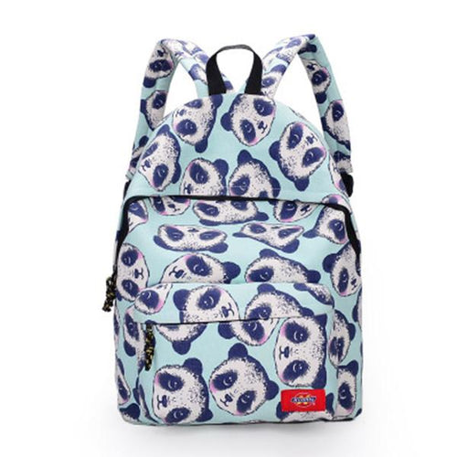 Panda Pattern Canvas Backpack