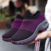 Load image into Gallery viewer, Womens All Season Flyknit Fabric Athletic Sneakers
