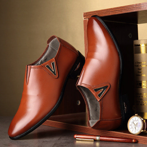 Men Pointed Toe Classic Business Formal Dress Wedding Shoes