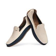 Load image into Gallery viewer, Large Size Men Color Blocking Slip Ons Flat Soft Casual Driving Loafers