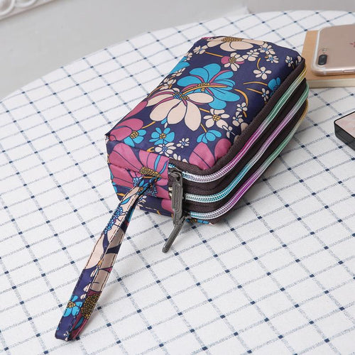 Floral Oxford Cloth Waterproof Wallet For Women