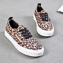Load image into Gallery viewer, Leopard Print Casual Canvas Non-slip Women Flats Loafers Round Slip On Shoes
