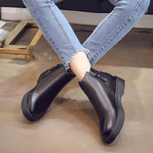 Load image into Gallery viewer, Martin Boots Female Chunky Heel Side Zipper Women's Boots with Tassels Marten