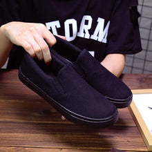 Load image into Gallery viewer, Canvas Shoes Flat Bottom Non-slip Women's Loafers