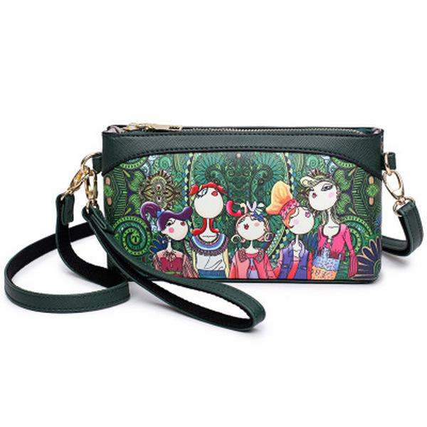 Forest Style PU Leather Crossbody Bag Phone Bag